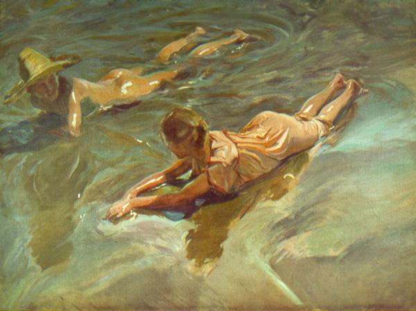 Ilustración 2: Idilio en el mar, 1908 Óleo sobre lienzo 151 x 199 cm. The Hispanic Society of America, New York.