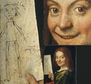 Muchacho sosteniendo un dibujo, Giovanni Francesco Caroto