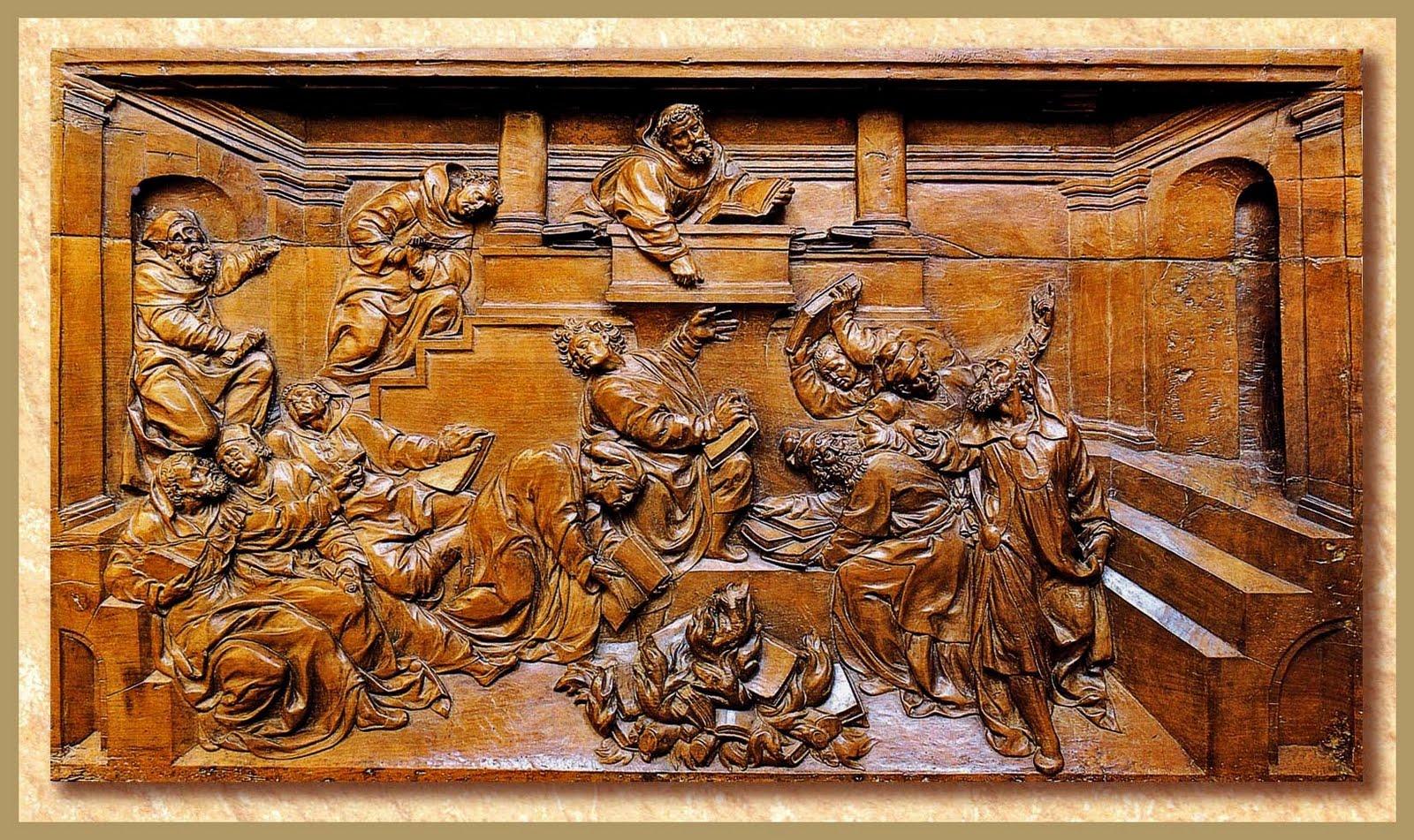 Quema de libros. Juan de Juni. Museo de León. Foto José Miguel Travieso