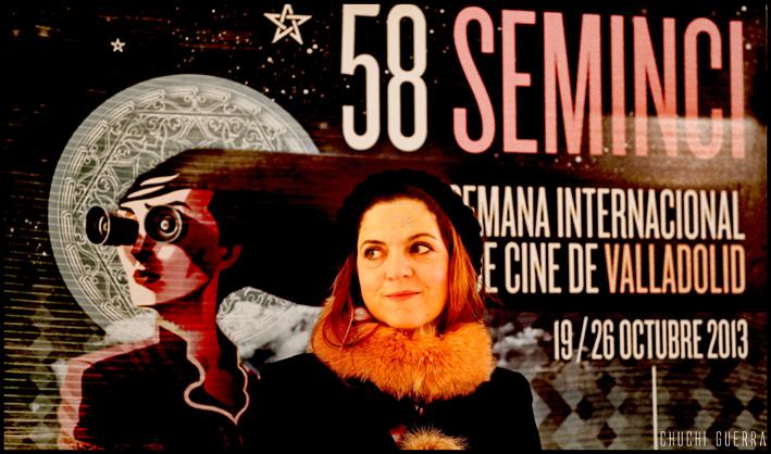 Agnes Jaoui en la Seminci. Foto: Chuchi Guerra