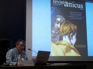 Luisjo Cuadrado durante su intervención