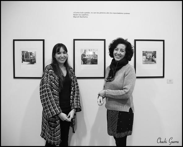 Maria Toral y Mercedes Cantalapiedra en la presentación de la exposición. Foto: Chuchi Guerra