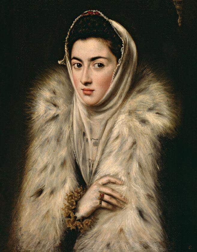 La dama del armiño ¿El Greco? Óleo sobre lienzo, 63 x 50 cm ¿h. 1577 - 1579 ¿ Glasgow, Lent by Glasgow Life (Glasgow Museums) on behalf of Glasgow City Council. Stirling Maxwell Collection, gift 1967
