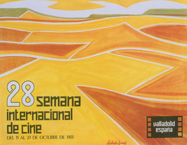 Seminci, 1983. Óleo sobre cartulina. 48,8 x 63, 5 cm.