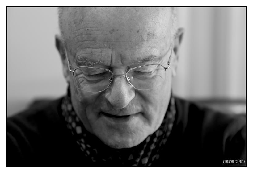 Otra imagen de Volker Schlöndorff durante la entrevista en Valladolid. Foto: Chuchi Guerra