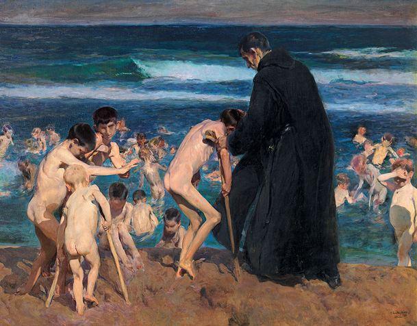 ¡Triste herencia! Joaquín Sorolla y Bastida. 1899. Óleo sobre lienzo, 212 x 288 cm. Colección Fundación Bancaja, Valencia