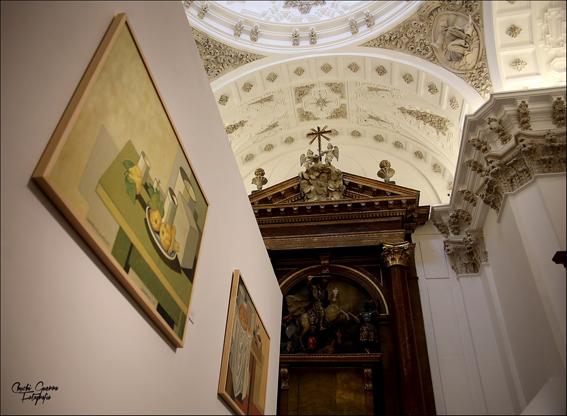 Aspecto del interior de la magnífica Sala de Exposiciones de Las Francesas en Valladolid