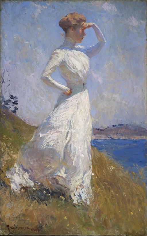 Bajo el sol, 1909, Frank W. Benson, Indianapolis Museum of Art