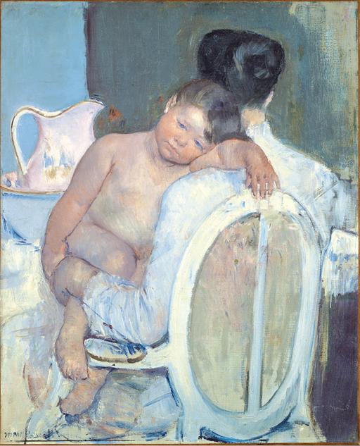 Mujer sentada con un niño en brazos, c. 1890 Mary Cassatt Museo de Bellas Artes de Bilbao