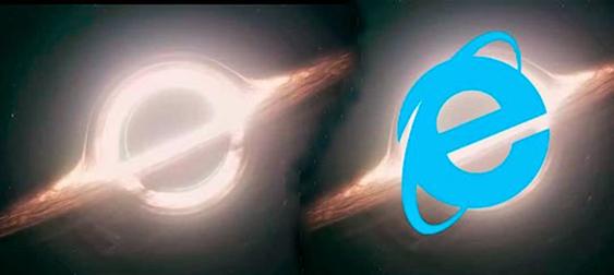 WInterestellar - Agujero Negro, logotipo de Internet Explorer