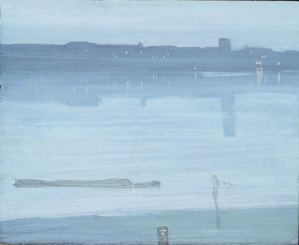 Nocturno: Azul y plata Chelsea, 1871. James Abbott McNeill Whistler. Tate Londres