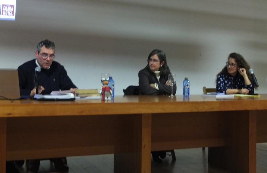 De izquierda a derecha Luisjo Cuadrado, Sonsoles Sánchez-Reyes y Noemí Valiente