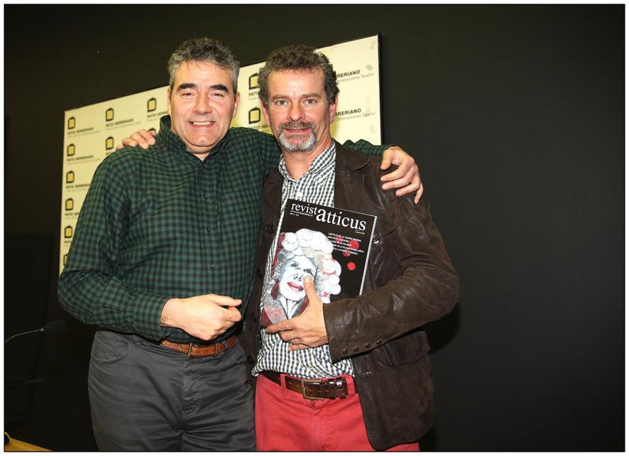 Luisjo Cuadrado y Chuchi Guerra, autor de las fotografías de neustra presentación