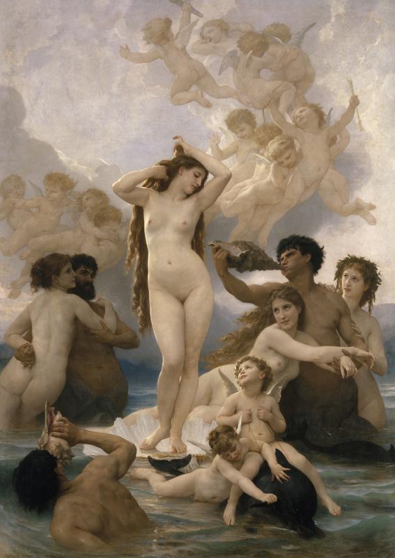 William Bouguereau Nacimiento de Venus, 1879 Óleo sobre lienzo, 300 x 215 cm París, Musée d'Orsay © RMN-Grand Palais (musée d'Orsay) / Hervé Lewandowski