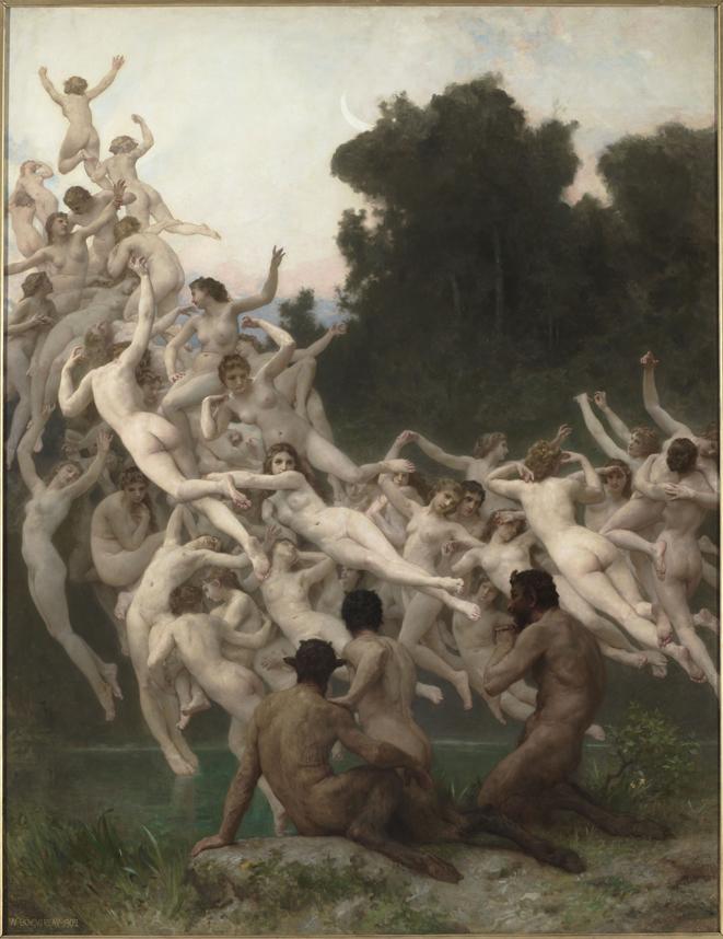 William Bouguereau. Las oréades. 1902 Óleo sobre lienzo, 237,5 x 181,5 cm París, Musée d'Orsay © Musée d'Orsay, Dist. RMN-Grand Palais / Patrice Schmidt