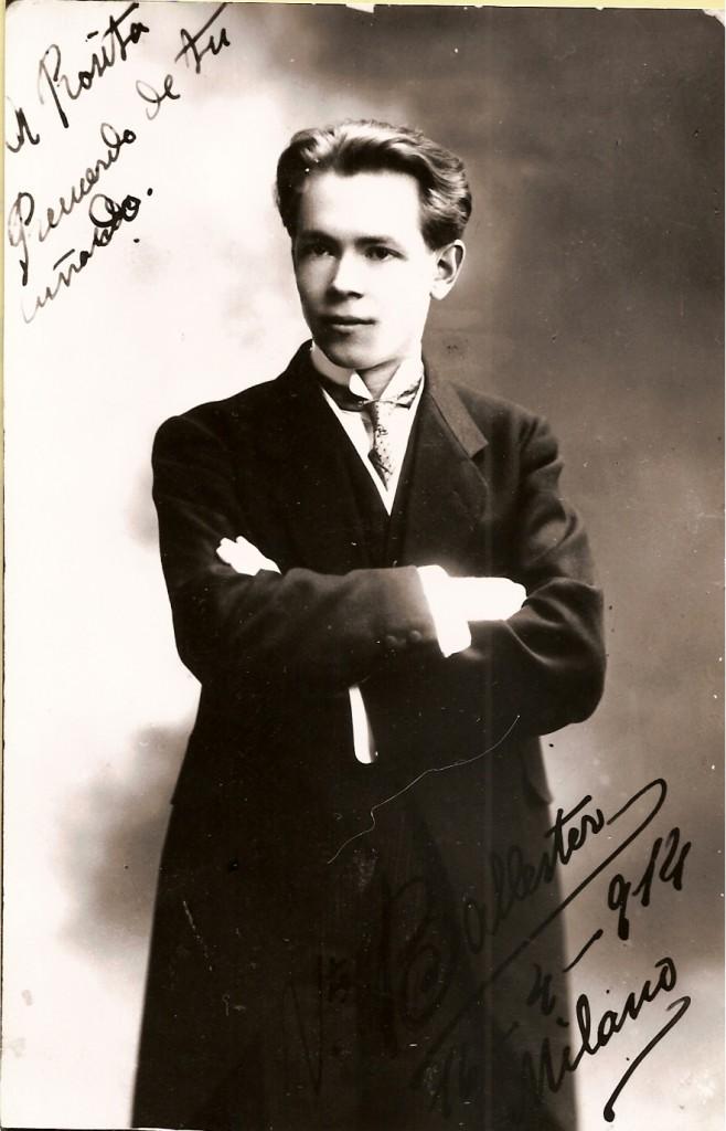 Foto de Vicente Ballester fechada el 16 de abril de 1914. Milán.