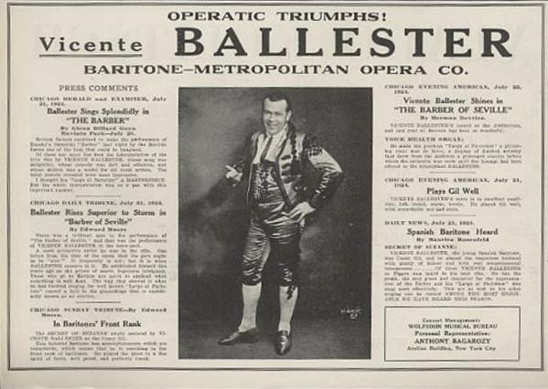 Una reseña en el periódico de 1925