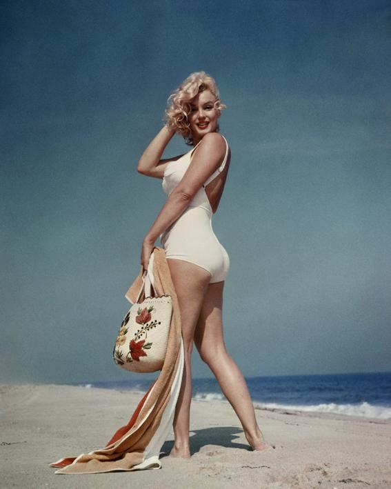 Marilyn Monroe on the beach. © Sam Shaw