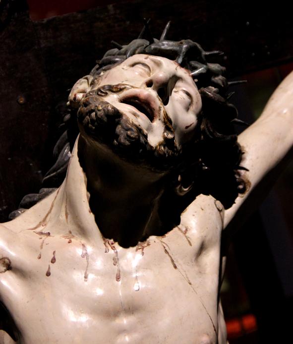 Detalle del Cristo de la Expiración. Juan de Juni. Madera policromada. Hacia 1570. Convento de Santa Teresa. MM. Carmelitas Descalzas de Valladolid