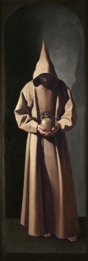 San Francisco de pie contemplando una calavera, c.1633‐1635