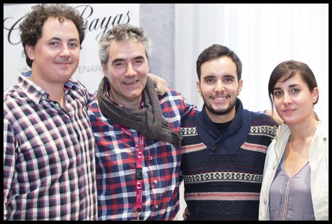 Haciendo amigos: Enrique Diego, Luisjo Cuadrado, Rafa y su flamante nueva esposa