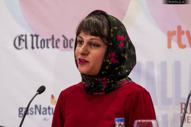 Ida Panahandeh, directora de Nahid, durante la rueda de prensa
