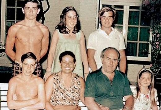 La familia Puccio en los años 80. Foto La Nación