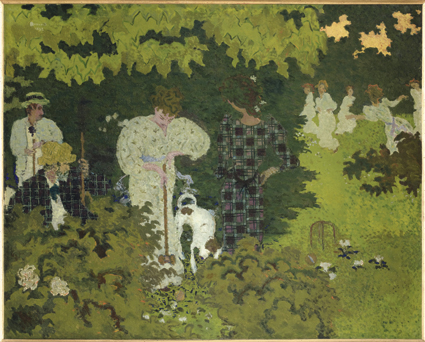 Crepúsculo. El partido de cróquet , 1892 Óleo sobre lienzo, 130,5 × 162,2 cm París, Musée d'Orsay © Musée d'Orsay / Patrice Schmidt © Pierre Bonnard, VEGAP, Madrid, 2015