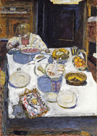 La mesa, 1925 Óleo sobre lienzo, 102,9 × 74,3 cm Londres, Tate  © Tate, Londres © Pierre Bonnard, VEGAP, Madrid, 2015