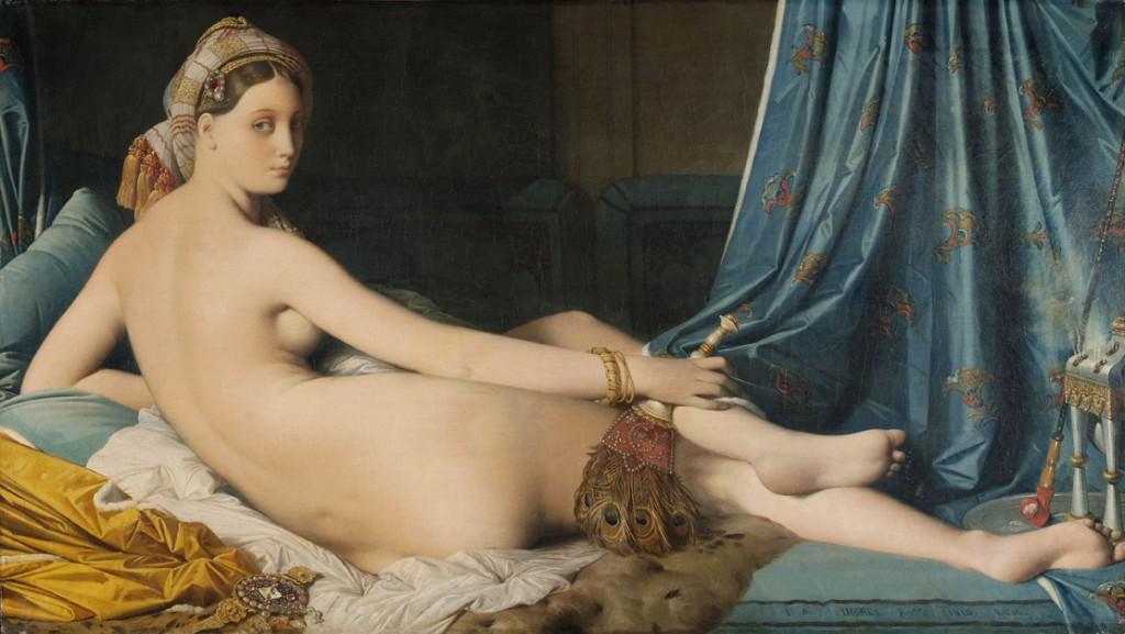 La gran Odalisca Jean-Auguste Dominique Ingres Óleo sobre lienzo, 91 x 162 cm 1814 París, Musée du Louvre, département des Peintures, Acquis en 1899