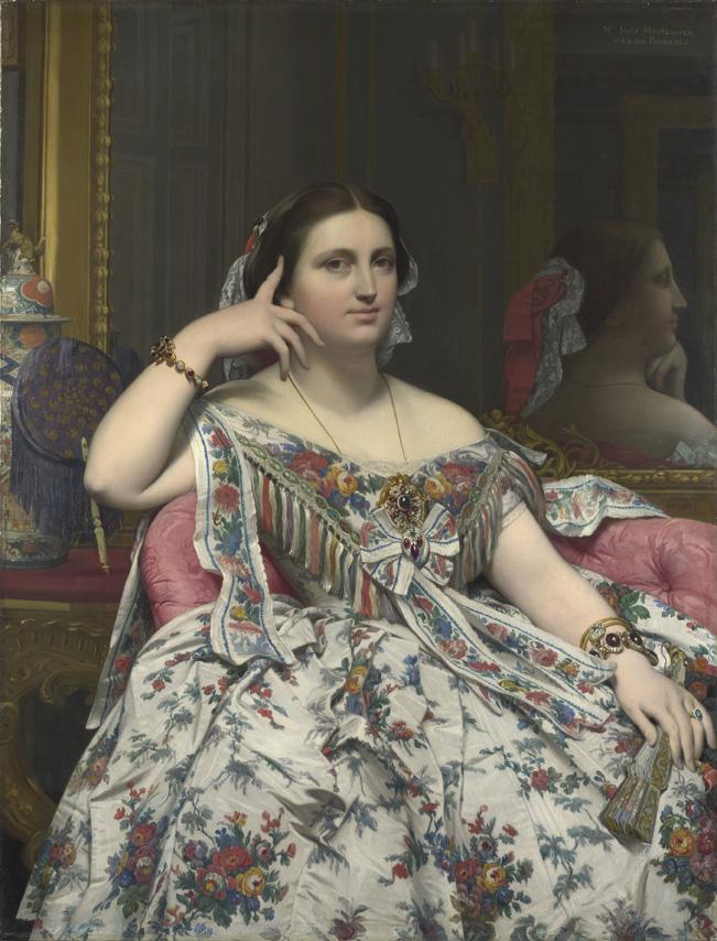 La Sra. Moitessier Jean-Auguste Dominique Ingres Óleo sobre lienzo, 120 x 92 cm 1856 Londres, The National Gallery, Bought 1936 6. La