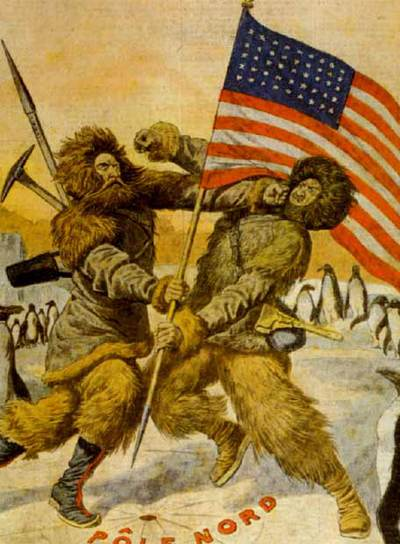Peary y Cook enzarzados por la conquista del Polo Norte