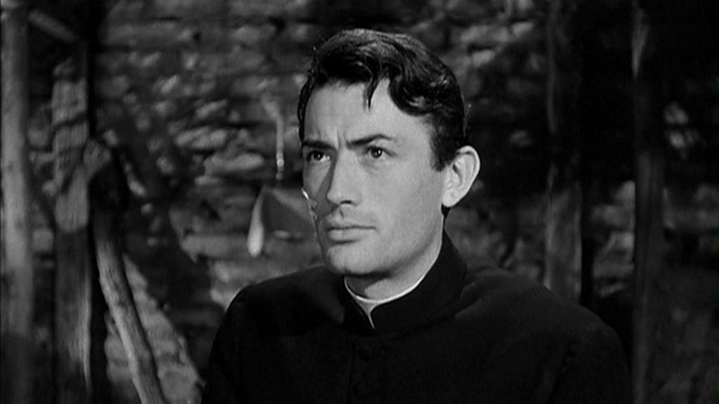 Gregory Peck en la película Las llaves del reino, 1944