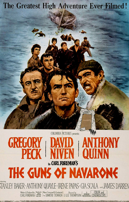 Cartel Los cañones de Navarone, 1961
