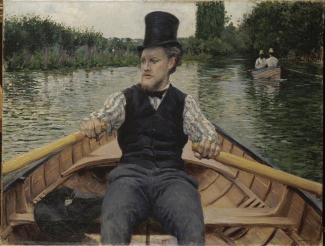 Remero con sombrero de copa, 1878 Óleo sobre lienzo. 90 x 117 cm Colección privada