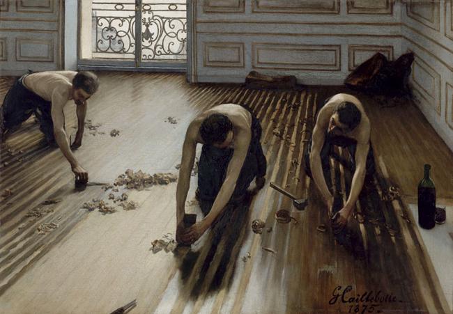 Acuchilladores de parquet (obra no mpresente en la exposición). Museo de Orsay, París