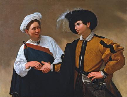 La Buenvaventura, 1595-1596, Caravaggio. Óleo sobre lienzo, 115 x 150 cm. Pinacoteca Musei Capitolini, Roma